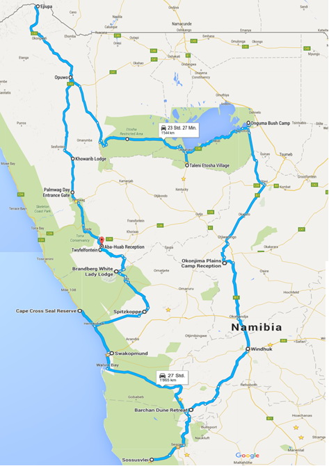 Namibia Nord-Route